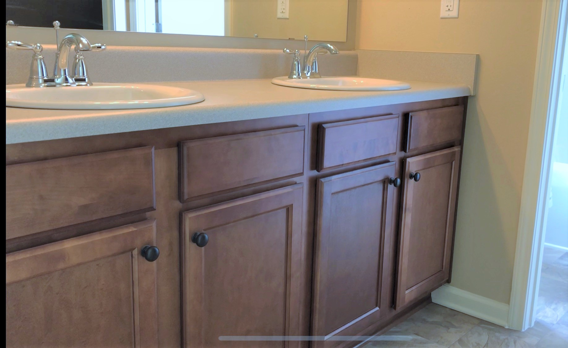 How do you get rid of mold on bathroom cabinets